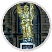 Thomas Wolfe Memorial Angel Round Beach Towel