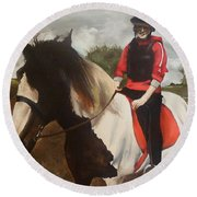 Thompsons Horse Round Beach Towel