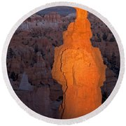 Thors Hammer Sunset Point Bryce Canyon National Park Round Beach Towel