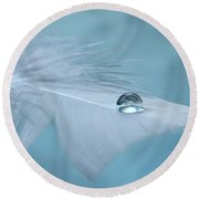 Thoughts Of Yesterday Round Beach Towel