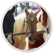 Three Amigos Round Beach Towel