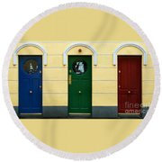 Three Doors Round Beach Towel