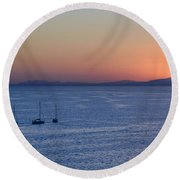 Round Beach Towel featuring the photograph Three Dreams by Steven Sparks