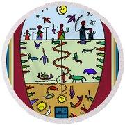 Round Beach Towel featuring the digital art Three Layers Of Life by Vagabond Folk Art - Virginia Vivier