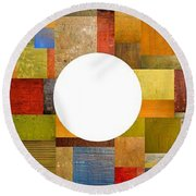 Three Rings Round Beach Towel by Michelle Calkins