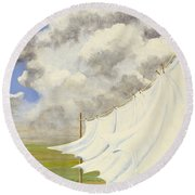 Three Sheets To The Wind Round Beach Towel