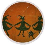 Three Witches Vintage Round Beach Towel
