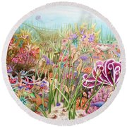 Thriving Ocean  Round Beach Towel