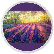 Through The Light Round Beach Towel