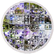 Through The Looking Glass Round Beach Towel by Richard Thomas