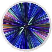 Through The Wormhole.. Round Beach Towel