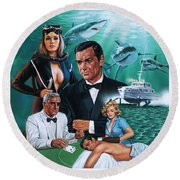 Thunderball Round Beach Towel