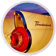 Thunderbird Round Beach Towel by Daniel Thompson