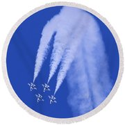Thunderbirds Diamond Formation Downwards Round Beach Towel
