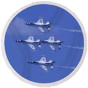 Thunderbirds Diamond Formation Topsides Round Beach Towel