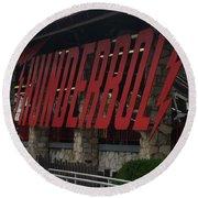 Thunderbolt Roller Coaster Round Beach Towel by Michael Krek