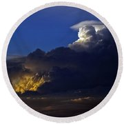 Round Beach Towel featuring the photograph Thunderstorm II by Greg Reed