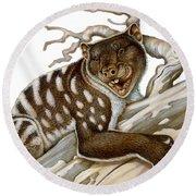 Thylacoleo, A Marsupial Lion Round Beach Towel