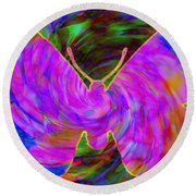 Tie-dye Butterfly Round Beach Towel