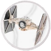 Tie Fighter Round Beach Towel