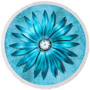 Tiffany Blue And Diamonds Too Round Beach Towel