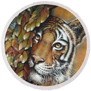 Tiger 300711 Round Beach Towel by Selena Boron