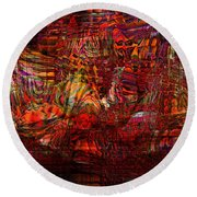 Tiger Glass Round Beach Towel