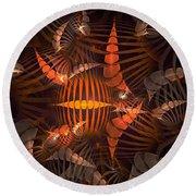 Tiger Shrimp Round Beach Towel