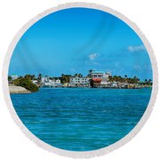 Tiki Bar Islamorada Round Beach Towel