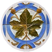 Tile Of Portugal Round Beach Towel
