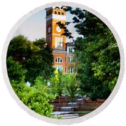 Tillman Hall Early Morning Round Beach Towel by Lynne Jenkins
