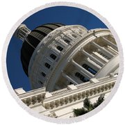 Tilted Dome Round Beach Towel