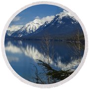 Time For Reflection Round Beach Towel