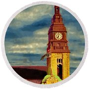 Round Beach Towel featuring the painting Time To Go by Jeff Kolker