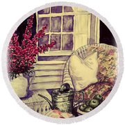 Time To Relax Round Beach Towel
