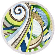 Time Travel Round Beach Towel