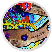 Time Waits For Nobody 20130605 Square Round Beach Towel