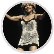 Tina Turner Round Beach Towel