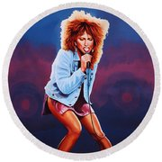 Tina Turner Round Beach Towel by Paul Meijering