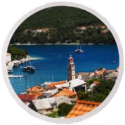 Tiny Inlet Round Beach Towel