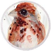 Tiny Sparrow Round Beach Towel