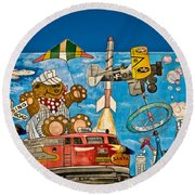 To Be Young Again Round Beach Towel