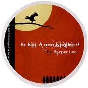 To Kill A Mockingbird Book Cover Movie Poster Art 1 Round Beach Towel