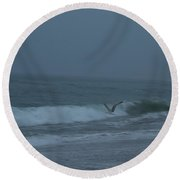 Round Beach Towel featuring the photograph To The Galley by Neal Eslinger