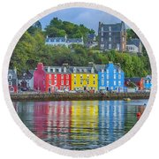 Tobermory Isle Of Mull Round Beach Towel
