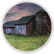 Tobin's Barn Round Beach Towel