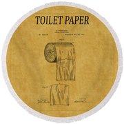 Toilet Paper Patent 1 Round Beach Towel