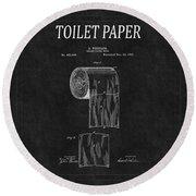 Toilet Paper Patent 2 Round Beach Towel