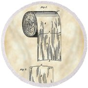 Toilet Paper Roll Patent 1891 - Vintage Round Beach Towel by Stephen Younts