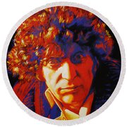 Tom Baker Round Beach Towel